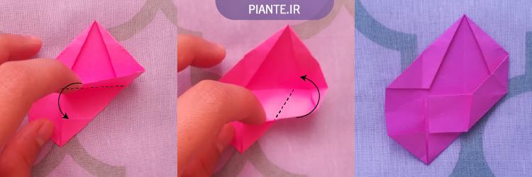 اوریگامی ماژولار گل ۵ پر