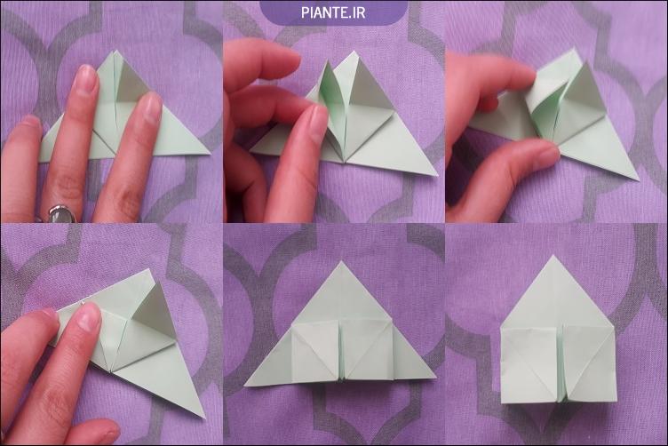اوریگامی گل رز ورژن آسان