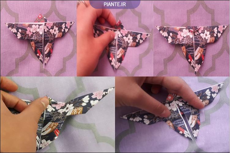 اوریگامی پروانه کاغذی