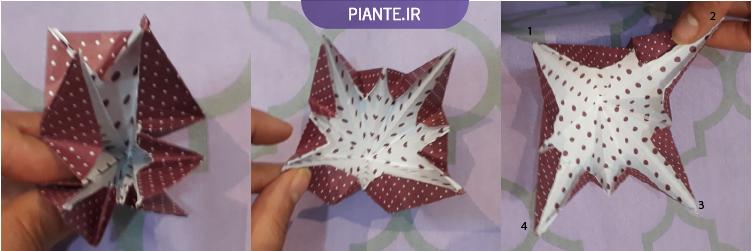 اوریگامی گل شیپوری
