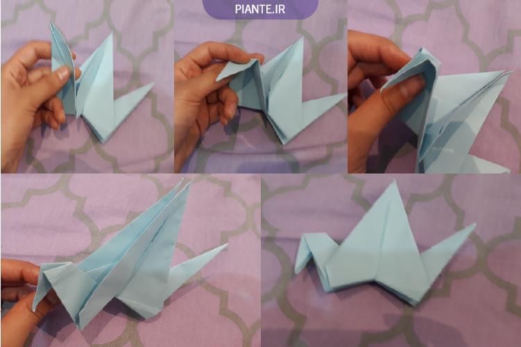 اوریگامی پرنده متحرک