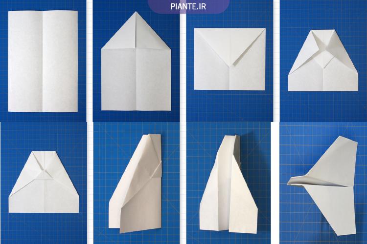 9 هواپیمای کاغذی ساده و خلاقانه
