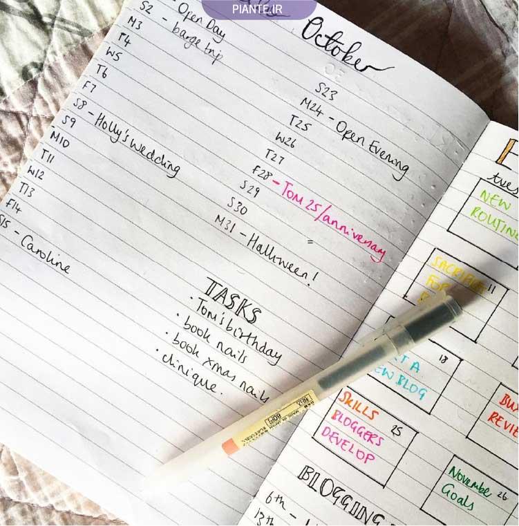 ویژگی های بهترین پلنر یا دفتر برنامه ریزی شخصی