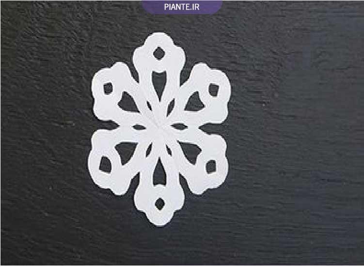 دانه برف تزیینی کاغذی چوبی نمدی