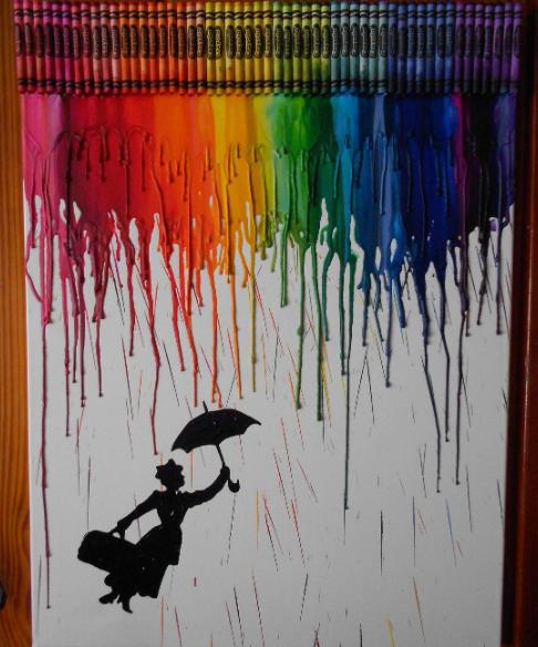 کاردستی و نقاشی با مداد شمعی